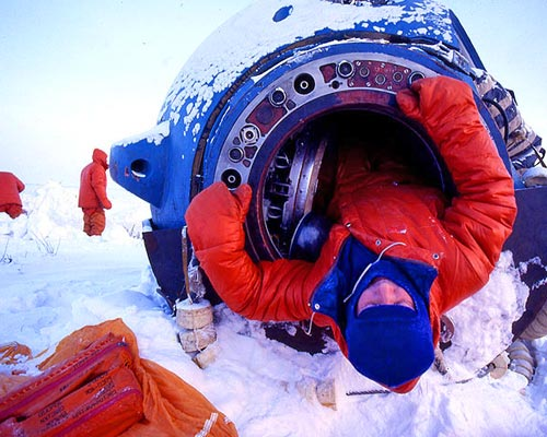 Jacek Palkiewicz and the Cosmonauts arctic survival training