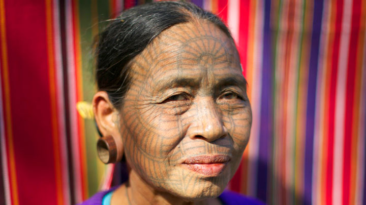 Photo album from the Tattooed women of Burma journey